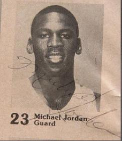 104b6a18871 Closeup of Jordan's signature during his freshman year at the University of  North Carolina - circa 1982